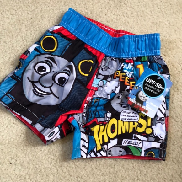 c435f40301f71 NWT Baby Boys Thomas the Train Swim Trunks Shorts Boutique